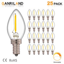filament pendants NZ - C7 Led Dimmable Bulb E14 E12 0.5w Refrigerator Led Filament Light Bulb 2700k 110V 220V Chandelier Pendant Edison Lamps