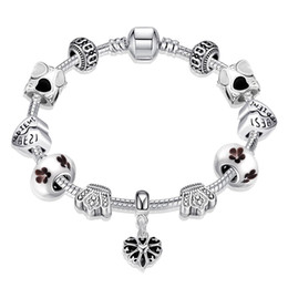Pandora s925 online shopping - Pandora Charm Bracelets S925 Silver Plated Multicolor Heart Crown Bracelet Accessories For Girls Thanksgiving Day Jewelry Gifts POTALA034