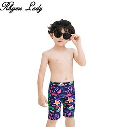 9dcfde0966321 Rhyme Lady Children Swimsuits little Boys Swim shorts 2019 summer Pants Kids  Swimwear printed Trunks beach Briefs
