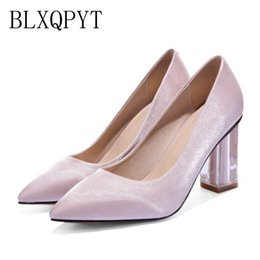 shoes femininos NZ - BLXQPYT Big Size 34~43 Shoes Woman High Heels round toe Pumps sweet wedding shoes Zapatos Mujer sapatos femininos 609-3