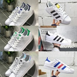 Waterproof casual shoes online shopping - Sale New Originals Stan Smith Shoes Cheap Women Men Casual Leather Sneakers Superstars Skateboard Punching White Girls Stan Smith Shoes