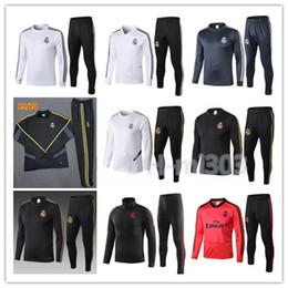 Skinny training pantS men online shopping - 2019 Real Madrid HAZARD tracksuit Survetement Madrid soccer chandal MODRIC ASENSIO training suit skinny pants Sportswear set