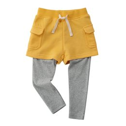 $enCountryForm.capitalKeyWord Australia - Girls leggings thin section 2019 new spring and autumn long children's trousers skirt foreign appearance wearing pants fake two-piece culott