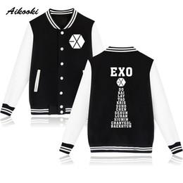 Exo jackEt online shopping - Aikooki Print EXO KPOP Baseball Jacket Men Women Sweatshirts Harajuku K POP Jackets Caots Mens EXO Jackets Autumn Winter Clothes