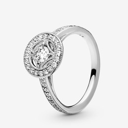 $enCountryForm.capitalKeyWord Australia - Vintage Circle Ring For Women With LOGO Zircon Fits Pandora Style Real Original Authentic Jewelry Sterling Silver 925