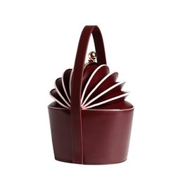 Chinese  Ella Jane Bag Bucket Tote Basket Bag Genuine Leather Handbag Royal Wedding Top Handle Bag For Women manufacturers