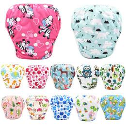 Swimwear Infant Australia - 40 Styles Adjustable Baby Swim Diaper Reusable Nappy Pants Infant Baby Boy Girl Reusable Swimwear Waterproof Swimming Diapers DHL FJ257