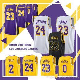 2018-2019 23 LeBron James Jersey James Basketball 2 Lonzo Ball 0 Kyle Kuzma  14 Brandon Ingram 24 Kobe Bryant Men s Jerseys Top sales 736438242