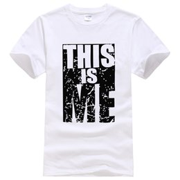 $enCountryForm.capitalKeyWord Australia - This Is Me Letter Printed 2019 Summer T-shirt Short Sleeve Casual Hot New Men's T-shirts High Quality Cotton T Shirt Men Tops