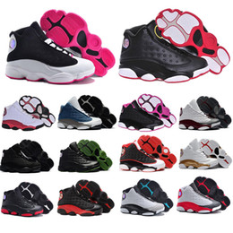 9752fef985b4 Cheap 13 kids basketball shoes Pink White Love   Respect Black Hyper Royal  Blue Wheat Bordeaux Olive youth boy girl children 13s eur 28-35
