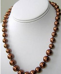 "$enCountryForm.capitalKeyWord NZ - necklace Free shipping +++10mm 24"" Chocolate South Sea Shell Pearl Round Beads Necklace"