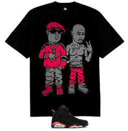 $enCountryForm.capitalKeyWord Australia - 2pac Biggie Smalls rap figures shirt for air Short-Sleeve 6 Retro Infrared Black sz M
