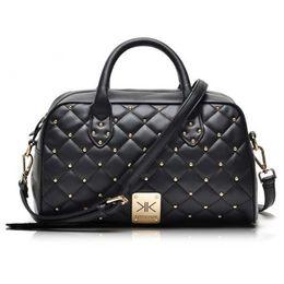 Kim Kardashian fashion style online shopping - Fashion high quality leather handbags kim Kardashian plaid rivet shoulder bag famous handbag women messenger bags work bag