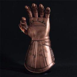 Figures Australia - LED Light Thanos Infinity Gauntlet Avengers 4 Infinity War Cosplay LED Gloves PVC Action Figure Model Toys Gift Halloween Props