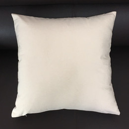 blank cotton cushion covers NZ - 16x16 Inches Blank Canvas Pillow Cover Natural Canvas Pillow Case White Cotton Pillow Case Black Cushion Cover for Hand-printing (3 Colors )