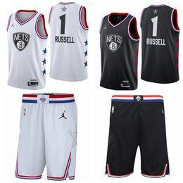 Net Games Australia - 1 D'Angelo Russells Brooklyn top Nets 2019 All-Star Game Finished Swingman Basketball Jersey Black White