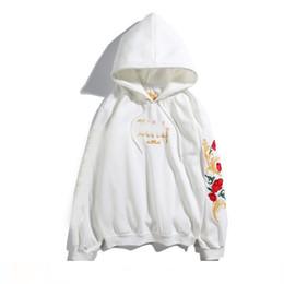 $enCountryForm.capitalKeyWord Australia - Mens designer hoodie brand luxury spring selling hoodies Black white embroidery rose pullover high quality cotton hip hop hooded sweater