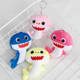 Baby Games Home Australia - BABY SHARK Keychains Key Chains 10CM Stuffed&Plush Dolls 4inch Keyrings Cars Plush Pendant School Bags Party Home Decoration Top Gifts C11