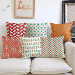 love chairs sofa UK - Simple Geometric Stripes Wave Pentagram Love Pattern Pillow Case Home Hotel Office Sofa Chair Car Decorative Cushion Cover