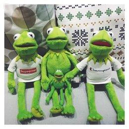 $enCountryForm.capitalKeyWord Canada - Kermit Frog The Muppet Show 45cm Kermit plush toys Sesame Street doll animal Kermit frog holiday Christmas Children Days Gift