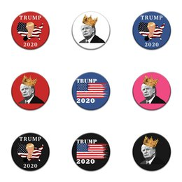 skull patches wholesale UK - 10 1 Pcs Half Face Skull Trump Badge Patches For Clothing Iron Fashion Patch For Clothes Applique Sewing Accessories Stickers On Cloth Ir #20