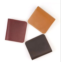 Handmade Cards Sale Australia - New Arrival Handmade Cowhide Wallet Hot Sales Fashion Simple Mens Wallet Self Made Purse Card Package Free Shipping