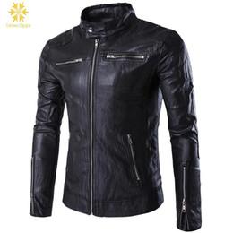 $enCountryForm.capitalKeyWord Australia - M-5XL Plus Size NEW Spring Fashion Men's leather motorcycle coats jackets washed Black leather Jacket coat Blouson Moto Homme