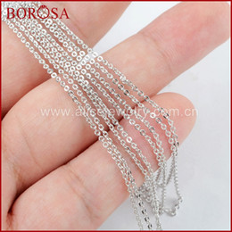 $enCountryForm.capitalKeyWord Australia - wholesale 10PCS 16 Inch Silver Color 1mm Thin Connector Chain Necklace Metal Chains for Connector Necklaces for Women Jewelry PJ113
