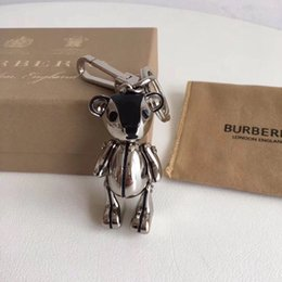 $enCountryForm.capitalKeyWord NZ - With original box High quality brand key chain Fashion luxury teddy bear head hand rotating design key chain Classic men women bag pendant