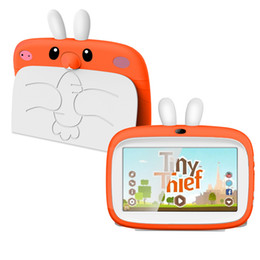 "children tablets wifi Australia - Kids Brand Tablet PC 7"" Quad Core children tablet Android 6.0 Rockchip 3126 google player wifi + big speaker + protective cover"