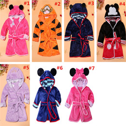 Cartoon sleep girl online shopping - Cute Girls Bathrobe Baby Cartoon Night Gown Boys Robes Belt Bath Children Sleeping Wear Clothing Kids Baby Clothes