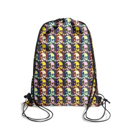 $enCountryForm.capitalKeyWord Australia - Drawstring Sports Backpack Young Elton John pop art color outdoor convenient limited edition Travel Fabric Backpack
