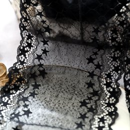Pattern design for clothes online shopping - 17cm Black Lace Trim Star Pattern Stretchy Lace Fabric Scalloped Trim for Skirts Dresses Costume Design Clothing Sewing Accessories
