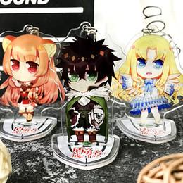 Figure Classics Australia - The Rising of the Shield Hero Tate no Yuusha no Nariagari Raphtalia Key Chains Pendant Toys Anime Figure Stand plate Gift