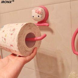 $enCountryForm.capitalKeyWord Australia - KT Strength Seamless Wall Suction Hanger Towel Tissue Toilet Paper Holder Rack Bathroom Kitchen Accessories