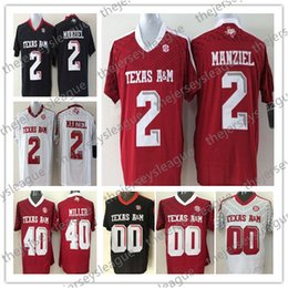 $enCountryForm.capitalKeyWord NZ - Texas A&M Aggies Custom Any Name Number Stitched Black Red White #2 Johnny Manziel 40 Von Miller NCAA College Football Jersey