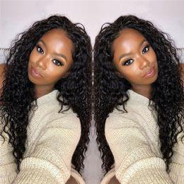 $enCountryForm.capitalKeyWord Australia - 8A Mink Deep Curly Dressmaker Hair Brazilian Virgin Curly Hair With 4x4 Lace Closure Unprocessed Remy Human Hair