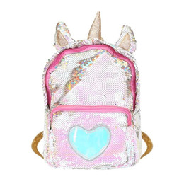 $enCountryForm.capitalKeyWord UK - Cute Women's Backpack Fashion Ladies Heart Sequins Backpacks Small Shiny Shoulder Bag Girl Preppy Schoolbags mochilas feminina #160360