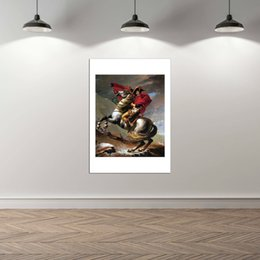 $enCountryForm.capitalKeyWord Australia - A.2 HD80X100 Napoleon Crossing the Alps on Gray Horse,Hand-painted &HD Print Portrait Art oil painting On Canvas For Wall decor Multi sizes