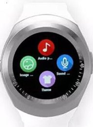 smartwatch y1 UK - Latest Watches Hot Y1 Smart Round Touch Screen Round Face Smartwatch Phone With Sim Card Slot Smart Watch For Android JTTZ