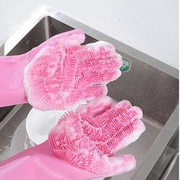$enCountryForm.capitalKeyWord Australia - X50 Pairs Resuable Silicone Magic Washing Glove Brush Anti Scald Gloves Household Scrubber Multipurpose Kitchen Bathroom Tools, Pet Cleaning