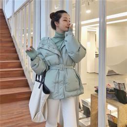 $enCountryForm.capitalKeyWord Australia - 2018 Korea Style Fashion Loose Thicken Sashes Jackets Short Female Warm Winter Parkas Coats
