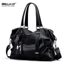 Business Hand Bags Australia - Top-handle Business Travel Bags For Men Shoulder Bag Soft Leather Handbags Large Hand Luggage Duffle Bags Man Weekender XA246ZC