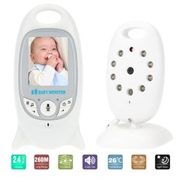 Camera Lcd Display Security NZ - Wireless Video Camera Baby Monitor IR LED Temperature Monitoring Night Vision CCTV Camera Two Way Talk with 8 Lullaby Home Security System