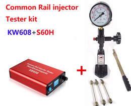 Injector Connectors Australia - Free ship! Common rail injector tester KW608 multifunction diesel USB Injector tester + S60H Common Rail Injector Nozzle tester
