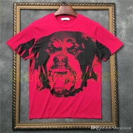 $enCountryForm.capitalKeyWord Australia - 2018 new arrival summer men Rose red dog print short sleeve t-shirt Designer tshirt Camisetas t shirts unsex tee cotton tops