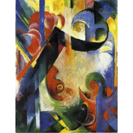 $enCountryForm.capitalKeyWord Australia - Hand painted Franz Marc paintings Broken Forms animal art abstract wall decor