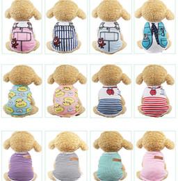 $enCountryForm.capitalKeyWord Australia - Cute Pet Dog Clothes Cat T-shirt Vest Cotton Mesh Puppy Soft Coat Jacket Summer Apparel Cartoon Print Costume Clothing Pet Supplies 36 Color