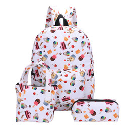 $enCountryForm.capitalKeyWord NZ - Ladybabag 3Pcs Backpacks+Hand Bag+Pen Bag for Girl Student new arrival candy Pattern Canvas School patchwork bags for women 2019