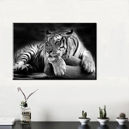 $enCountryForm.capitalKeyWord Australia - 1 Piece Canvas Poster Animal Lion Canvas Painting Home Decor Black white Wall Pictures Print For Living Room Art Pictures No Framed